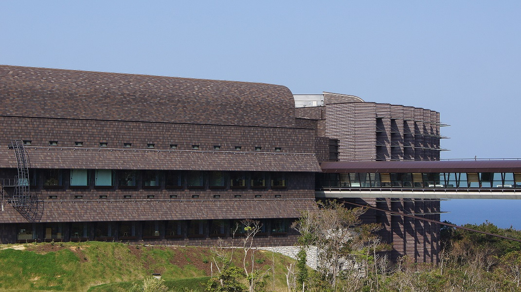 OIST Lab 2 building, housing the Biodiversity and Biocomplexity Unit.